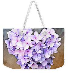 Heart Hydrangea Weekender Tote Bag