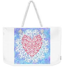 Heart In A Snowflake II Weekender Tote Bag by Lise Winne