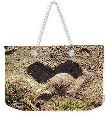 Heart In The Sand Weekender Tote Bag