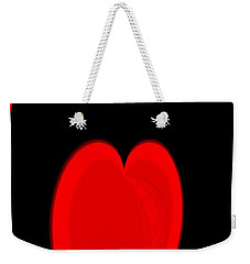 Heart Love Weekender Tote Bag
