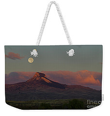 Heart Mountain And Full Moon-signed-#0273  #0273 Weekender Tote Bag
