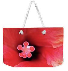 Heart Of A Hibiscus Weekender Tote Bag