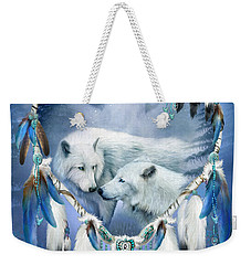 Weekender Tote Bag featuring the mixed media Heart Of A Wolf 3 by Carol Cavalaris