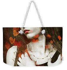 Weekender Tote Bag featuring the digital art Heart Of Gold by Paul Lovering