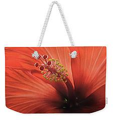 Heart Of Hibiscus Weekender Tote Bag