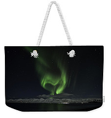 Heart Of Northern Lights Weekender Tote Bag by Frodi Brinks