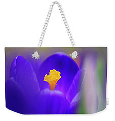 Heart Of The Crocus Weekender Tote Bag