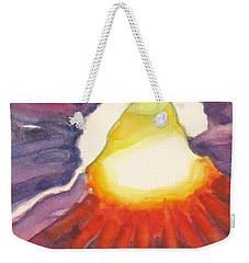 Heart Of The Flower Weekender Tote Bag by Inese Poga