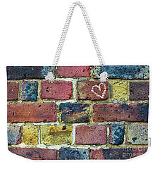 Weekender Tote Bag featuring the photograph Heart Of The Matter by Tim Gainey