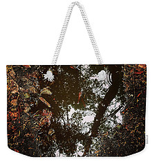 Weekender Tote Bag featuring the photograph Heart Of The Wood by Rasma Bertz