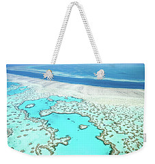 Heart Reef Weekender Tote Bag by Az Jackson
