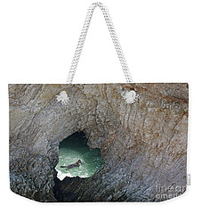 Heart Rock Otter Weekender Tote Bag