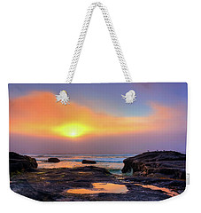 Heart Shaped Puddle Weekender Tote Bag