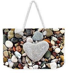 Heart-shaped Stone Weekender Tote Bag
