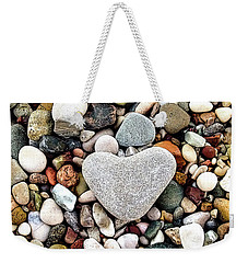 Heart-shaped Stone Weekender Tote Bag