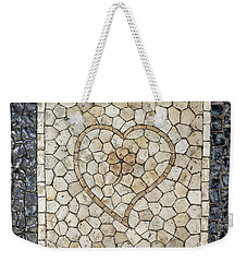 Heart Shaped Traditional Portuguese Pavement Weekender Tote Bag