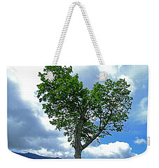 Heart Shaped Tree Weekender Tote Bag