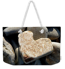Heart Stone Weekender Tote Bag by Lainie Wrightson