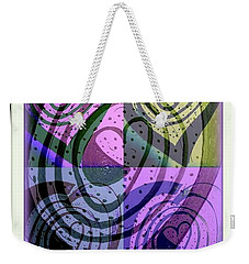 Heart Vortex Labyrinth Weekender Tote Bag