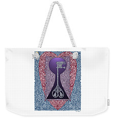 Heart With Lock And Skeleton Key Weekender Tote Bag