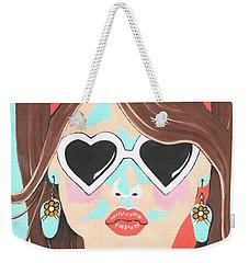 Weekender Tote Bag featuring the painting Heartbreaker by Kathleen Sartoris