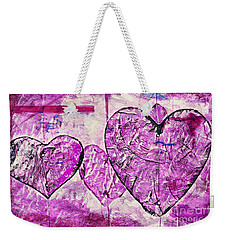 Hearts Abstract Weekender Tote Bag