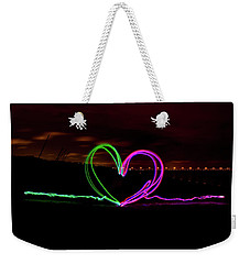 Hearts In The Night Weekender Tote Bag