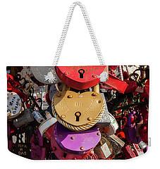 Hearts Locked In Love Weekender Tote Bag