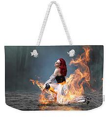 This Girl Is On Fire Weekender Tote Bag