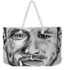 Heath Ledger Charcoal Sketch Weekender Tote Bag by Dushyant Kumar