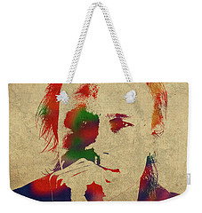 Heath Ledger Watercolor Portrait Weekender Tote Bag