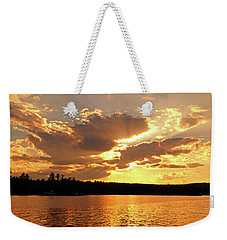 Weekender Tote Bag featuring the photograph Heaven Shining by Lynda Lehmann