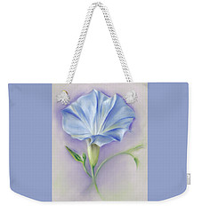 Heavenly Blue Morning Glory Weekender Tote Bag by MM Anderson
