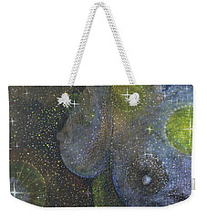 Weekender Tote Bag featuring the painting Heavenly Body Aka The Milky Way by Kym Nicolas