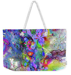 Heavenly Cosmos Series 1975.032914invertfadediff Weekender Tote Bag by Kris Haas