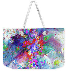 Heavenly Cosmos Series 1976.032914invertfadediff Weekender Tote Bag by Kris Haas