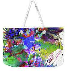 Heavenly Cosmos Series 1977.032914invertfadediff Weekender Tote Bag by Kris Haas