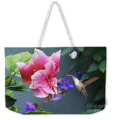 Weekender Tote Bag featuring the photograph Heavenly Garden by John Kolenberg