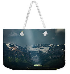 Weekender Tote Bag featuring the photograph Heavenly Lake Louise by William Lee