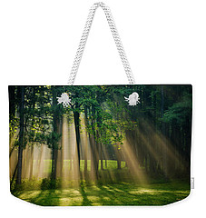 Weekender Tote Bag featuring the photograph Heavenly Light Sunrise by Christina Rollo