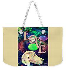 Weekender Tote Bag featuring the digital art Heavenly Love by Kathy Tarochione