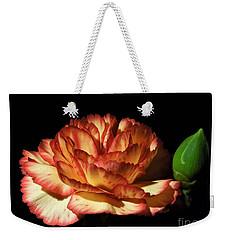 Heavenly Outlined Carnation Flower Weekender Tote Bag