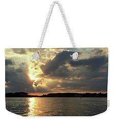 Heavenly River Sunset Weekender Tote Bag