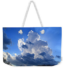 Weekender Tote Bag featuring the photograph Heavenly Sunlight by Kathryn Meyer
