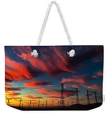 Weekender Tote Bag featuring the photograph Heavenly Sunrise by Chris Tarpening