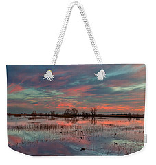 Heavenly Sunrise Weekender Tote Bag