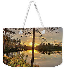 Weekender Tote Bag featuring the photograph Heavenly Sunset by Rose-Marie Karlsen