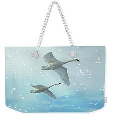 Heavenly Swan Flight Weekender Tote Bag