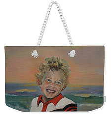 Weekender Tote Bag featuring the painting Heaven's Child by Jan Dappen