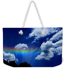 Heavens Rainbow Weekender Tote Bag by Linda Sannuti